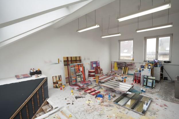 Stefan Annerel, new works Artist's studio, Antwerp, Belgium Feb. 13, 2014